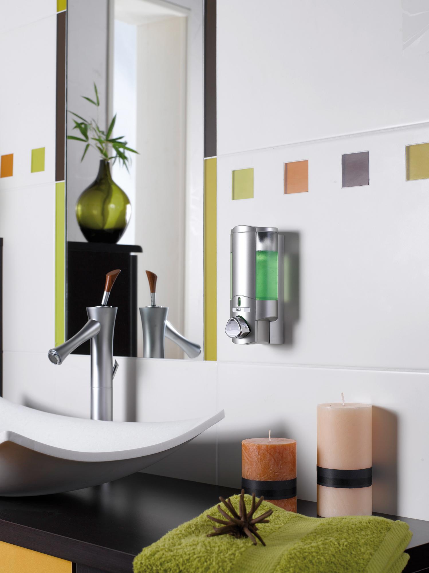 Distributeur de savon wave for Distributeur savon douche mural